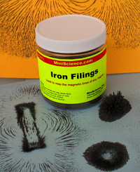 Iron Filing bottle and magnetic fields
